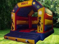 Disco themw bouncy castle